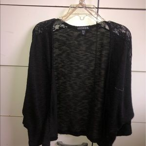 Black Cover Up with Half Sleeves and Lace